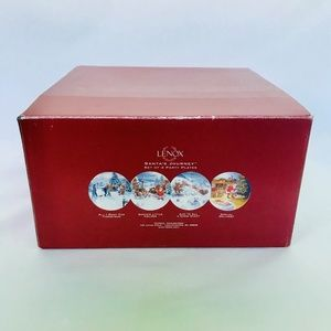 Lenox Santa's Journey Collectible Plates Set Of 4